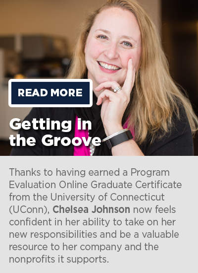 Chelsea Johnson: Program Evaluation Online Graduate Certificate Graduate